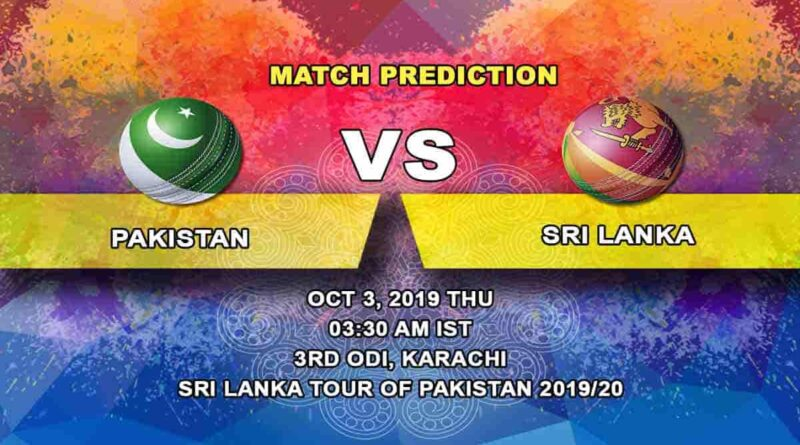 Cricket Prediction Pakistan vs Sri Lanka Sri Lanka tour of Pakistan 2019/20 02.10.19