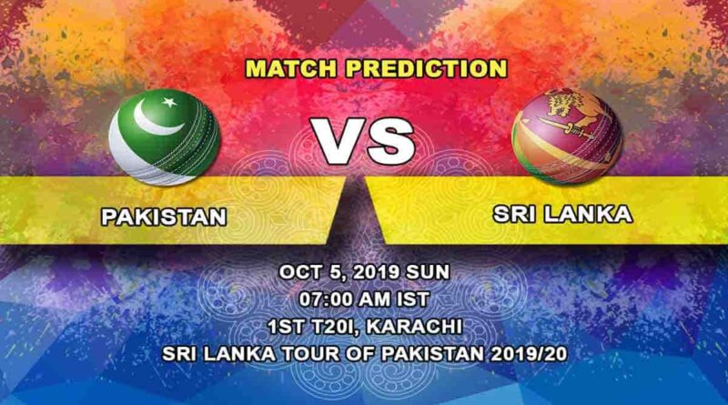 Cricket Prediction Pakistan vs Sri Lanka Sri Lanka tour of Pakistan 2019/20 07.10.19