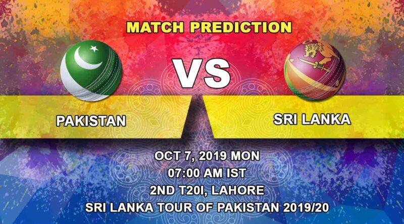 Cricket Prediction Pakistan vs Sri Lanka Sri Lanka tour of Pakistan 2019/20 07.10.19