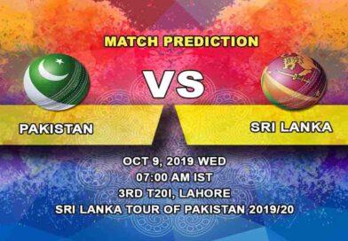 Cricket Prediction Pakistan vs Sri Lanka Sri Lanka tour of Pakistan 2019/20 09.10.19