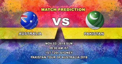 Cricket Prediction Australia vs Pakistan Pakistan tour of Australia 2019/20 03.11