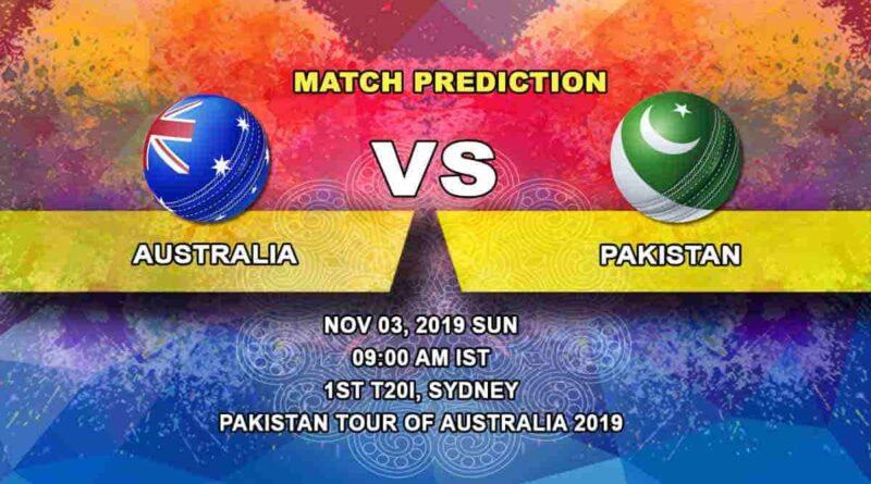 Cricket Prediction Australia vs Pakistan Pakistan tour of Australia 2019/20 03.11