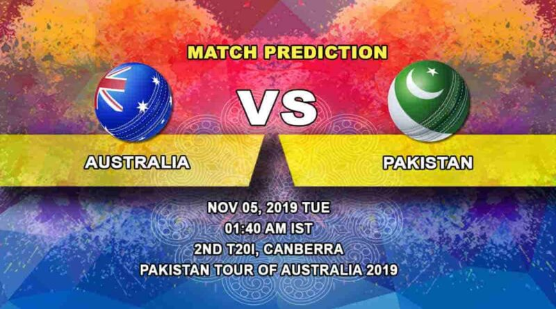 Cricket Prediction Australia vs Pakistan Pakistan tour of Australia 2019/20 05.11