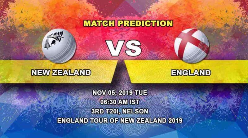 Cricket Prediction New Zealand vs England England tour of New Zealand 2019/20 05.11