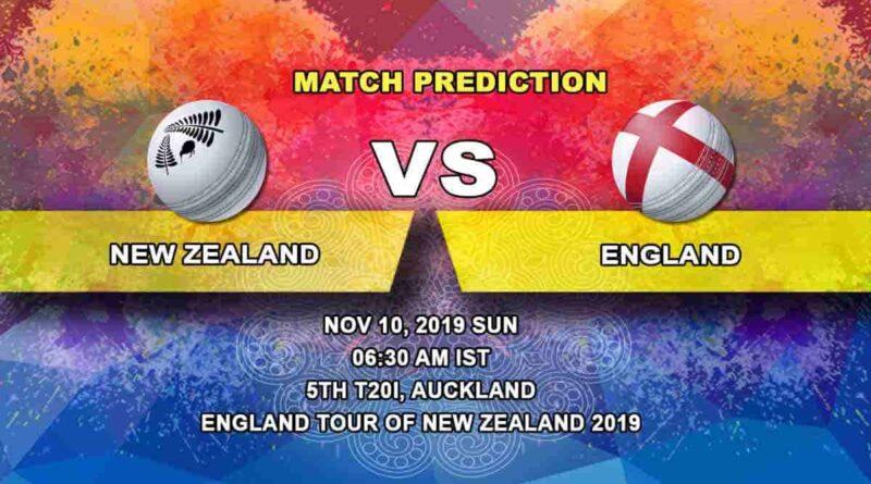 Cricket Prediction New Zealand vs England England tour of New Zealand 2019/20 10.11