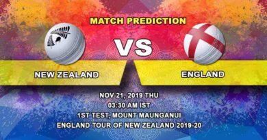 Cricket Prediction New Zealand vs England England tour of New Zealand 2019/20 21.11