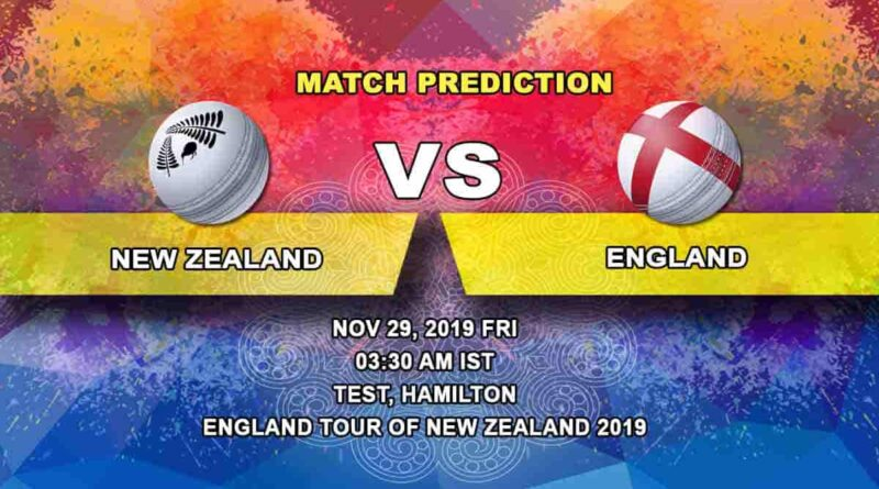 Cricket Prediction New Zealand vs England England tour of New Zealand 2019/20 29.11