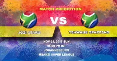 Cricket Prediction Jozi Stars vs Tshwane Spartans Mzansi Super League 24.11