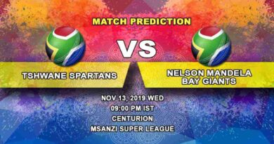 Cricket PredictionTshwane Spartans vs Nelson Mandela Bay Giants Mzansi Super League 13.11
