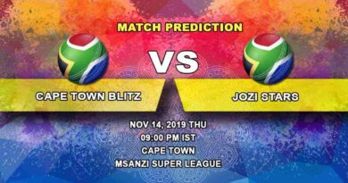 Cricket Prediction Cape Town Blitz vs Jozi Stars Mzansi Super League 14.11