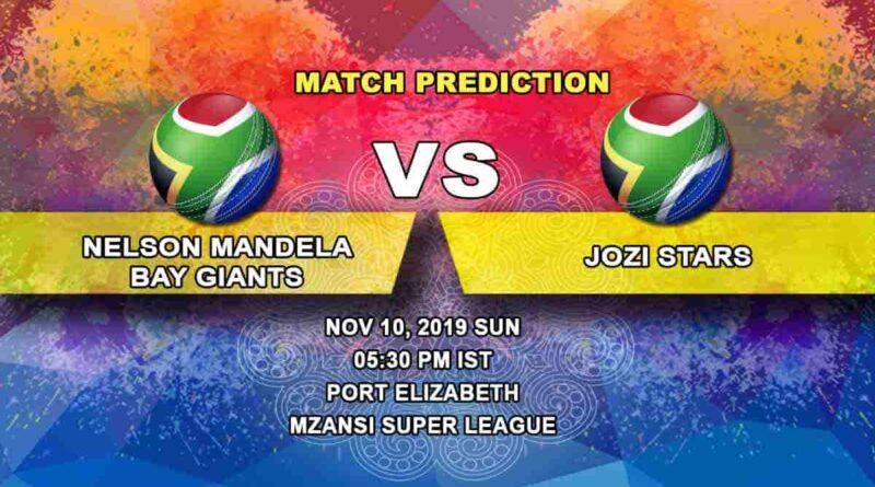 Cricket Prediction Nelson Mandela Bay Giants vs Jozi Stars Mzansi Super League 10.11