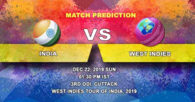 Cricket Prediction India vs West Indies West Indies tour of India, 2019/20 22.12