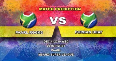 Cricket Prediction Paarl Rocks vs Durban Heat Mzansi Super League 04.12