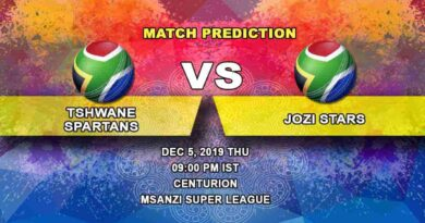 Cricket Prediction Tshwane Spartans vs Jozi Stars Mzansi Super League 05.12