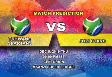 Cricket Prediction Tshwane Spartans vs Jozi Stars Mzansi Super League 05.12
