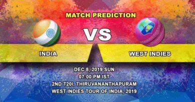 Cricket Prediction India vs West Indies West Indies tour of India, 2019/20 08.12