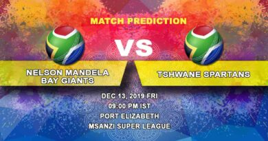 Cricket Prediction Nelson Mandela Bay Giants vs Tshwane Spartans Qualifier Mzansi Super League 13.12