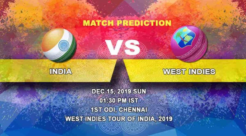Cricket Prediction India vs West Indies West Indies tour of India, 2019/20 15.12