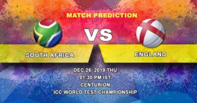 Cricket Prediction South Africa vs England ICC World Test Championship 26.12