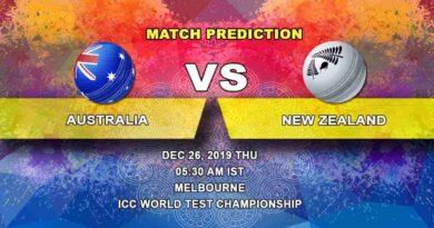 Cricket Prediction Australia vs New Zealand ICC World Test Championship 26.12