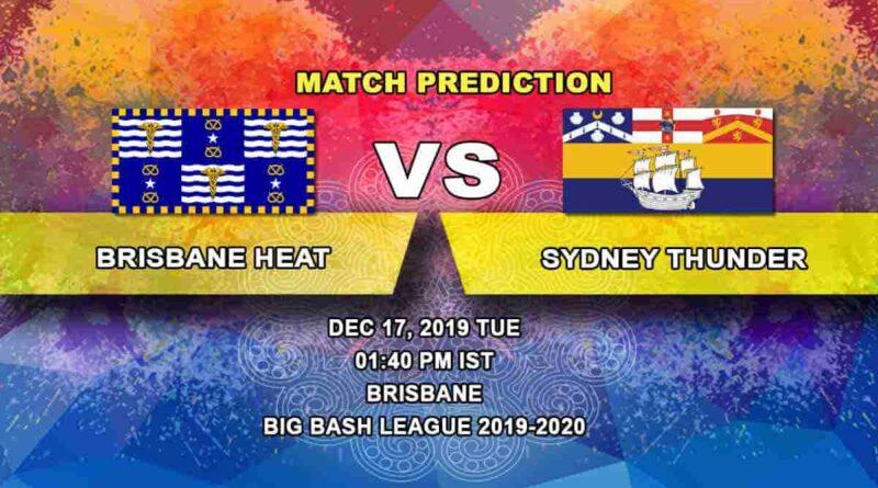 Cricket Prediction Brisbane Heat vs Sydney Thunder Big Bash League 17.12