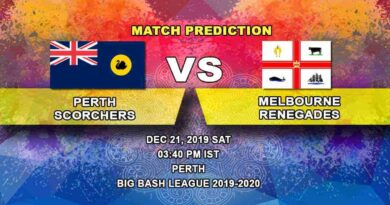 Cricket Prediction Perth Scorchers vs Melbourne Renegades Big Bash League 21.12