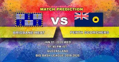 Cricket Prediction Brisbane Heat vs Perth Scorchers Big Bash League 01.01