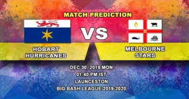 Cricket Prediction Hobart Hurricanes vs Melbourne Stars Big Bash League 30.12