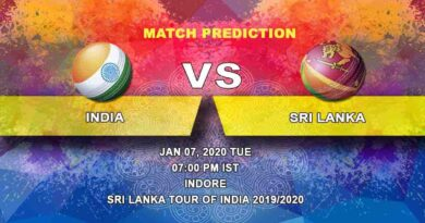Cricket Prediction India vs Sri Lanka Sri Lanka tour of India 2019/20 07.01