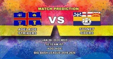 Cricket Prediction Adelaide Strikers vs Sydney Sixers Big Bash League 08.01