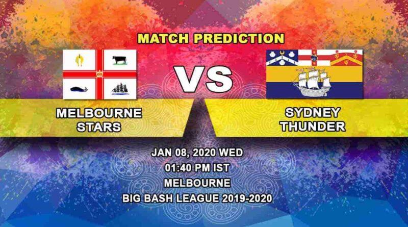 Cricket Prediction Melbourne Stars vs Sydney Thunder Big Bash League 08.01