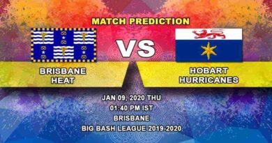 Cricket Prediction Brisbane Heat vs Hobart Hurricanes Big Bash League 09.01