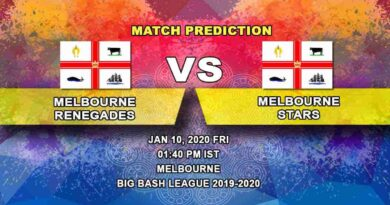 Cricket Prediction Melbourne Renegades vs Melbourne Stars Big Bash League 10.01