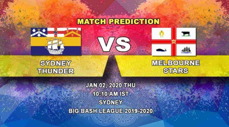 Cricket Prediction Sydney Thunder vs Melbourne Stars Big Bash League 02.01