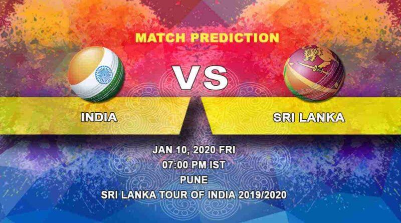 Cricket Prediction India vs Sri Lanka Sri Lanka tour of India 2019/20 10.01
