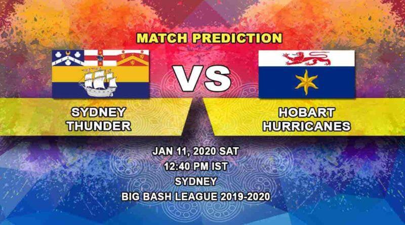 Cricket Prediction Sydney Thunder vs Hobart Hurricanes Big Bash League 11.01
