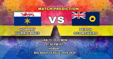 Cricket Prediction Hobart Hurricanes vs Perth Scorchers Big Bash League 13.01