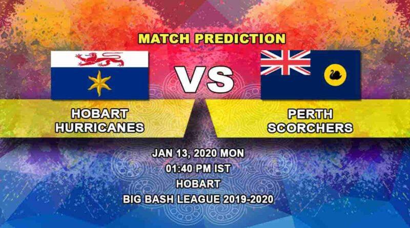 Cricket Prediction Hobart Hurricanes vs Perth Scorchers Big Bash League 13.01