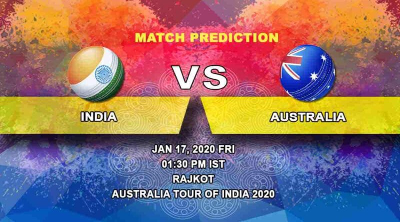 Cricket Prediction - India vs Australia - Australia tour of India 2019/20 17.01