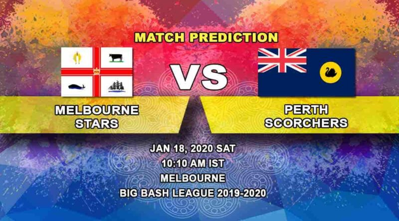 Cricket Prediction - Melbourne Stars vs Perth Scorchers - Big Bash League 18.01