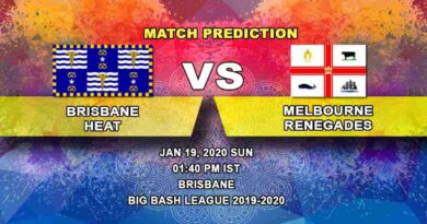 Cricket Prediction - Brisbane Heat vs Melbourne Renegades - Big Bash League 19.01