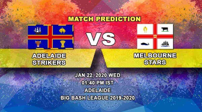 Cricket Prediction – Adelaide Strikers vs Melbourne Stars – Big Bash League 22.01