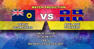 Cricket Prediction - Perth Scorchers vs Adelaide Strikers - Big Bash League 24.01