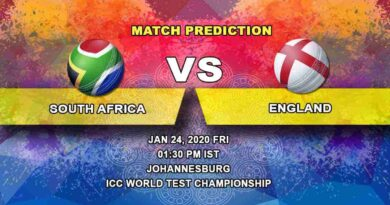 Cricket Prediction - South Africa vs England - ICC World Test Championship 24.01