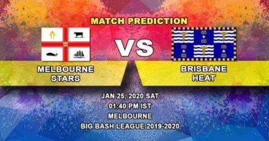 Cricket Prediction - Melbourne Stars vs Brisbane Heat - Big Bash League 25.01