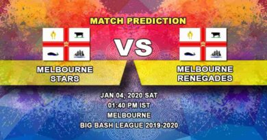 Cricket Prediction Melbourne Stars vs Melbourne Renegades Big Bash League 04.01