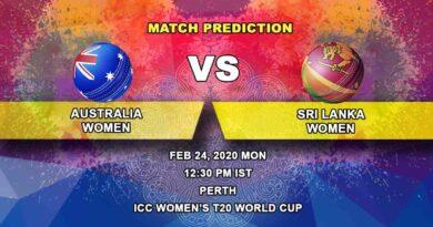 Cricket Prediction - Australia Women vs Sri Lanka Women - ICC Women's T20 World Cup 24.02