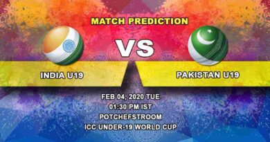 Cricket Prediction - India U19 vs Pakistan U19 - ICC Under-19 World Cup 04.02