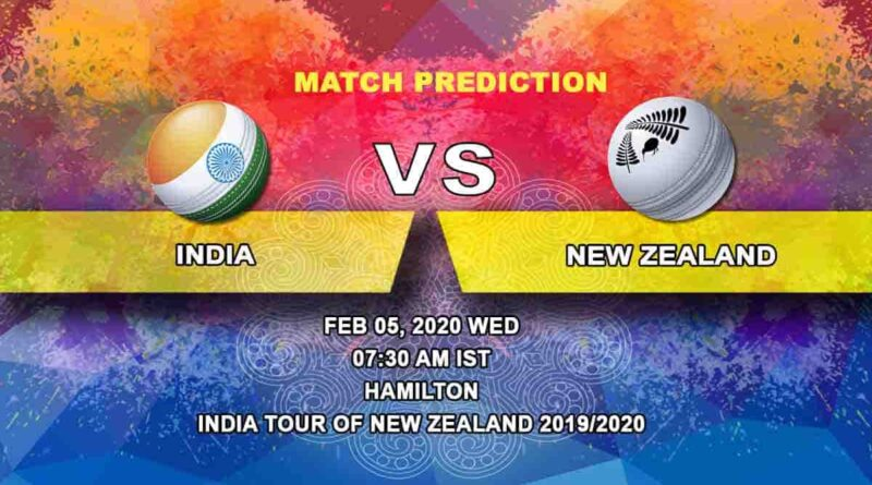Cricket Prediction - India vs New Zealand - India tour of New Zealand 2019/20 05.02