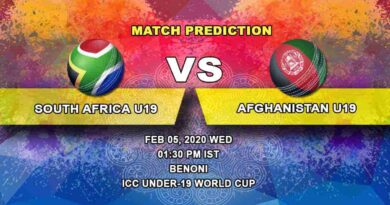 Cricket Prediction - South Africa U19 vs Afghanistan U19 - ICC Under-19 World Cup 05.02